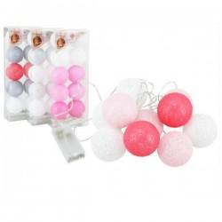 EM-LAMPKI *COTTON BALLS* 10 LED KOLOR MCL115