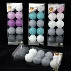 EM-LAMPKI *COTTON BALLS* 10 LED KOLOR MCL117